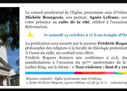 Conférence de Frédéric Rognon à Orléans sur la non-violence